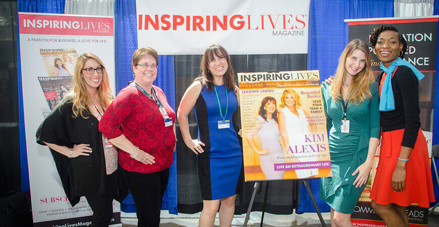 Inspiring Lives Magazine Trade Show Booth