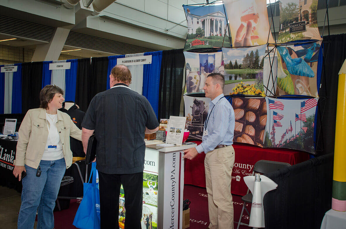 Mercer County booth at Business Show
